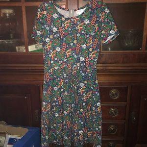 LulaRoe NWOT Dress with Zipper MEDIUM